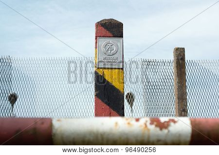 Post At The Former Inner German Border