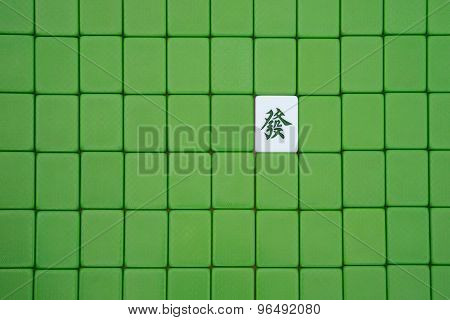 Closed Mah Jong Bricks With One Opened