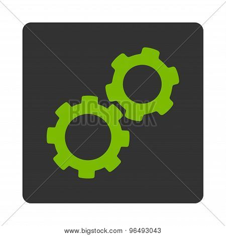 Gears Icon from Commerce Buttons OverColor Set