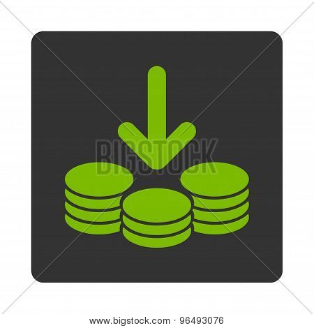 Income Icon from Commerce Buttons OverColor Set