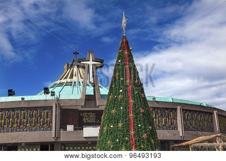 New Basilica Guadalupe Shrine Christmas Mexico City Mexico