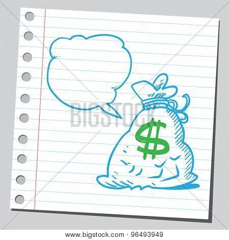 Money bag speaking