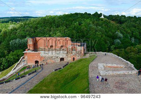 Surviving Buildings Of Upper Vilnius Castle And Views Of Mount Of Three Crosses, Vilnius