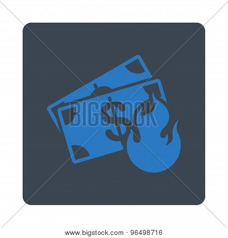 Fire Accident Icon from Commerce Buttons OverColor Set