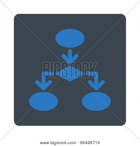 Flowchart Icon from Commerce Buttons OverColor Set