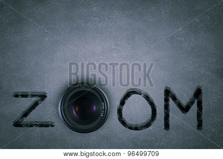 Word zoom with camera zoom instead of letter O