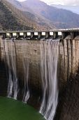 pic of dam  - dam with overflow with high jump of water - JPG