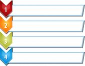 image of four  - blank business strategy concept infographic chevron list diagram illustration four 4 steps - JPG