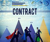 stock photo of bartering  - Contract Deal Commitment Agreement Analysis Value Concept - JPG