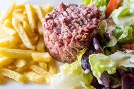 picture of tartar  - tasty Steak tartare  - JPG