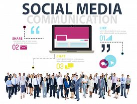 pic of socialism  - Social Media Social Networking Technology Connection Concept - JPG
