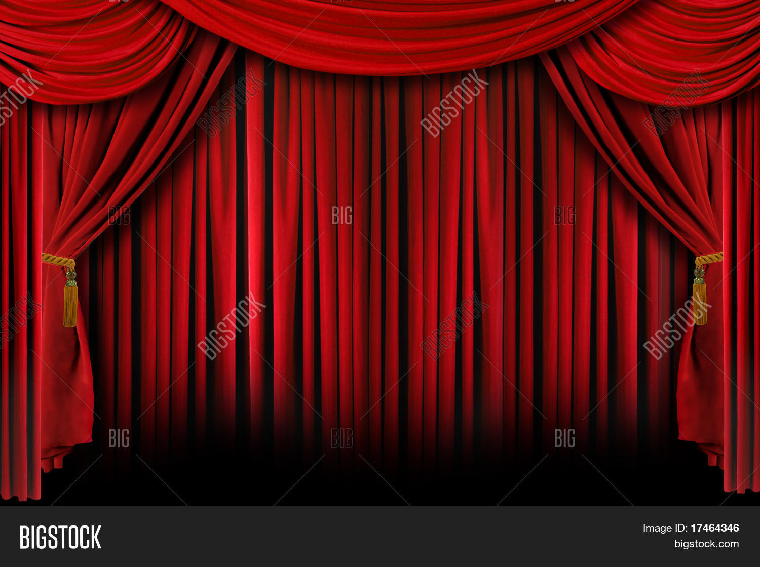 Closed theater curtains - Multiple Red Layered Stage Theater Drape Curtain Background