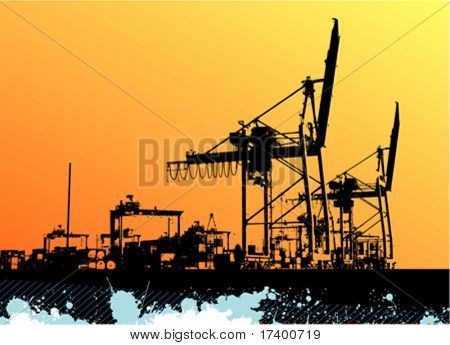 abstract seaport design background vector