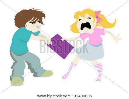 vector naughty boy and girl