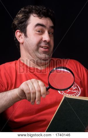 The Man And Magnifying Glass