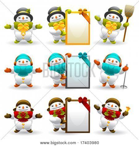 snowman character set