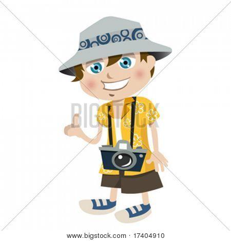 tourist boy