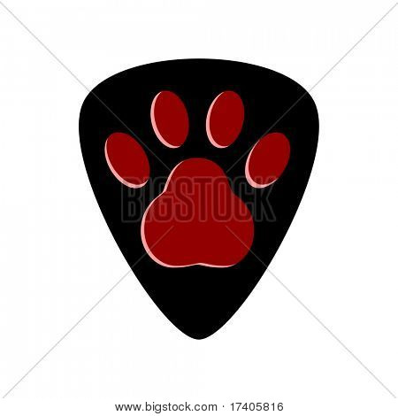 Guitar pick or plectrum with Custom Design