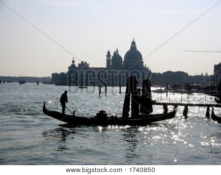 Silhouette View Of Venice Beauty, Italy