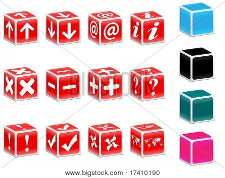 (raster image) red boxes with web icons