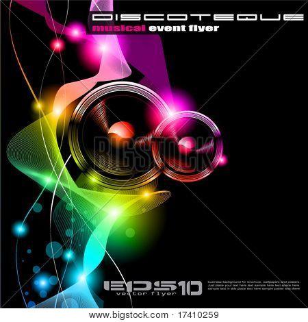 Alternative Disco Flyer for International Music Event