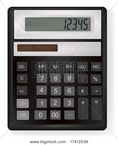 Vector illustration of business calculator.