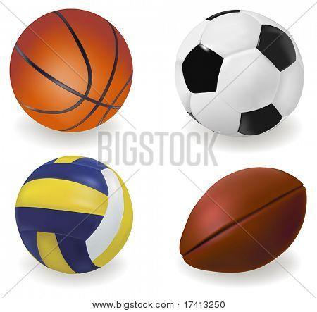 Set of sport balls. Vector