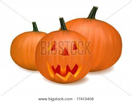 Halloween pumpkin vegetables. Vector