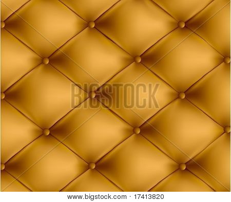 Brown button-tufted leather background. Vector illustration.