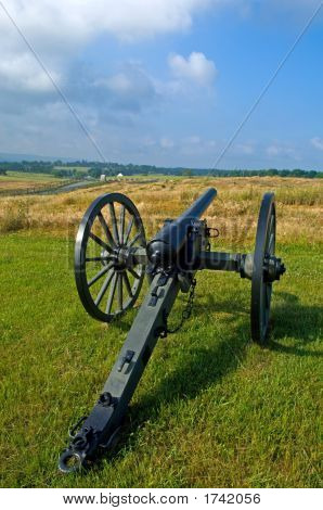 Cannon And Battlefield
