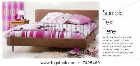 female bedroom background