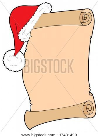 Santas wish list - vector illustration.