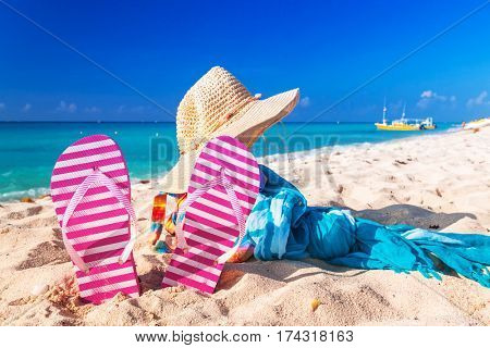 Holidays at the Caribbean beach of Mexico
