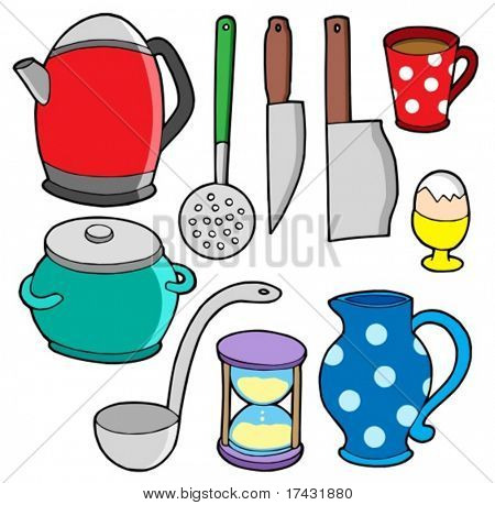 Domestics collection 2 - vector illustration.
