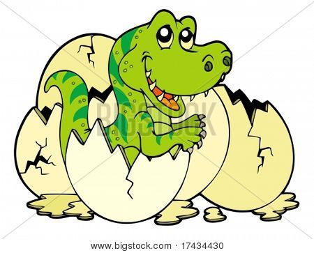 Young tyrannosaurus rex - vector illustration.