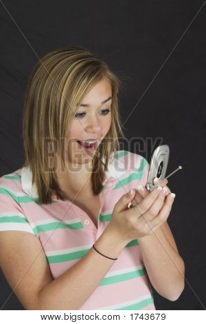 Teenage Girl On Cell Phone