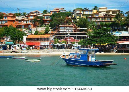Boats over the sea in Buzios, Rio de janeiro, Brazil