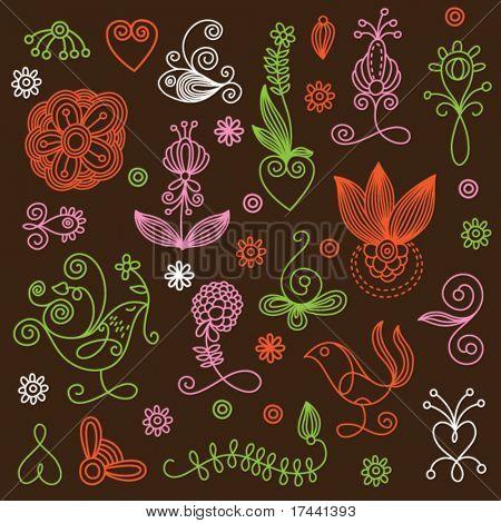 elements floral design.