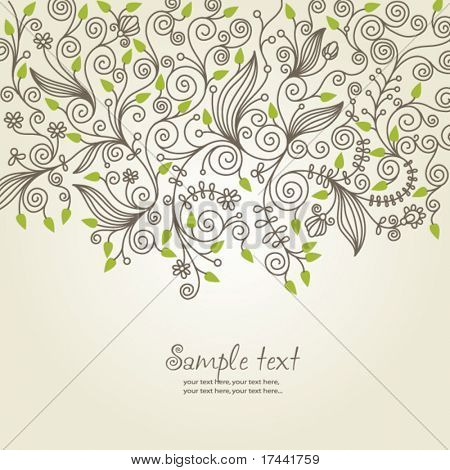 floral background, greeting card