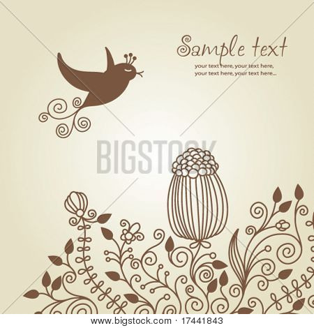 floral greeeting card