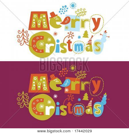 Merry Christmas, greeting card