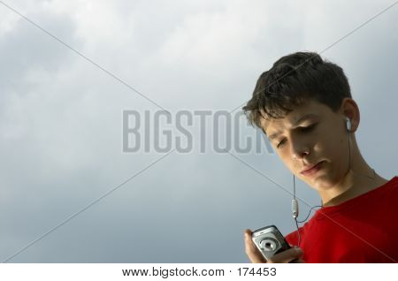 Teens Listen To Mp3 Player