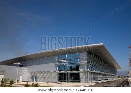 airport building in Podgorica, Montenegro