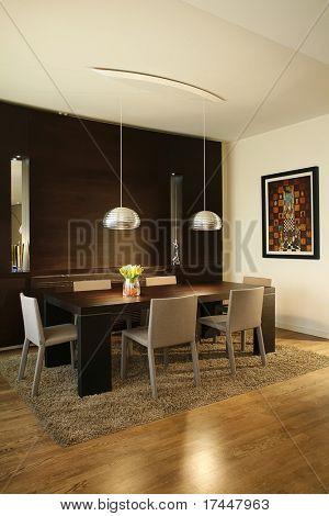 interior of a modern dining room