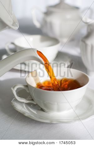 Pouring Fresh Tea.