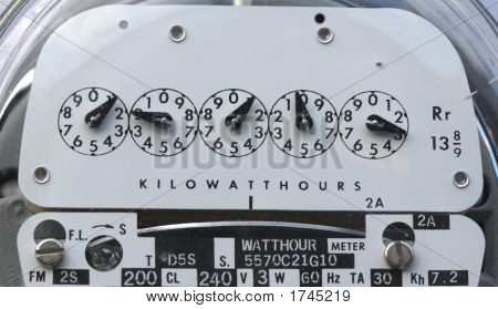 Electric Meter Closeup