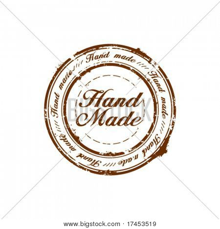 vector hand made quality stamp