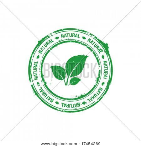 vector ecology natural stamp