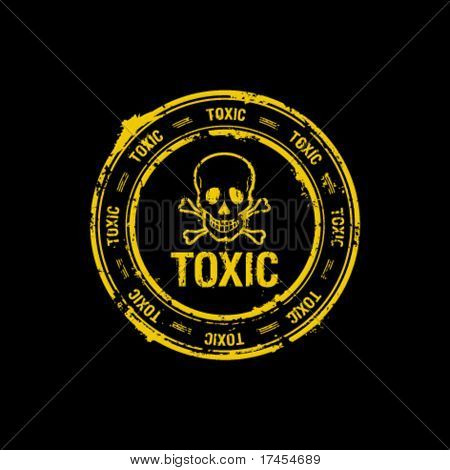 toxic vector rubber stamp