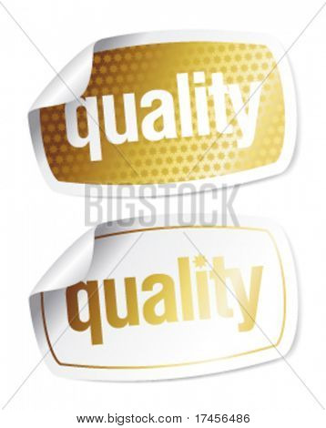 Set of stickers for quality products with imitation of the hologram